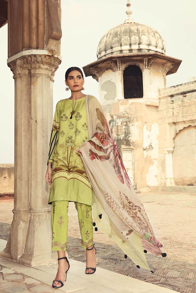 Charizma KESAR Vol-1 Embroidered Linen Collection'20 Seerat 06