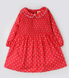 Hopscotch Red Baby Dress SKU: H-FW20-GWT-106