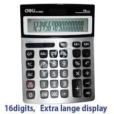 Deli Calculator 16 Digit Check & Multi function