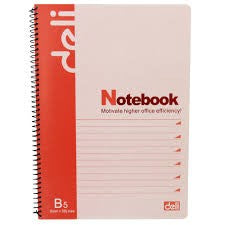 Deli Spiral Notebook 60 Sheets B5