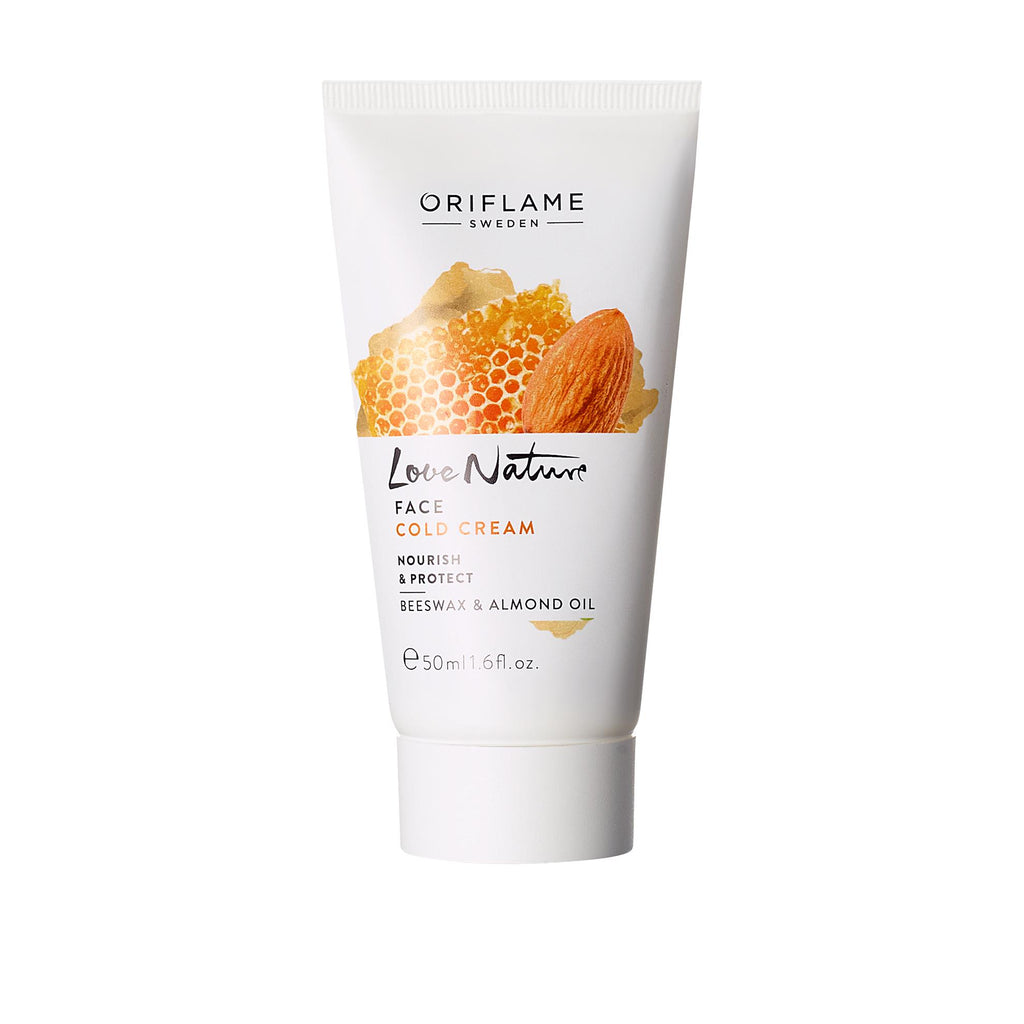 LOVE NATURE Face Cold Cream Nourish & Protect Beeswax & Almond Oil | ORIFLAME SWEDEN