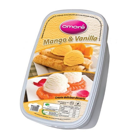 Omore Mango & Vanilla Tub Ice Cream 1.4 Ltr