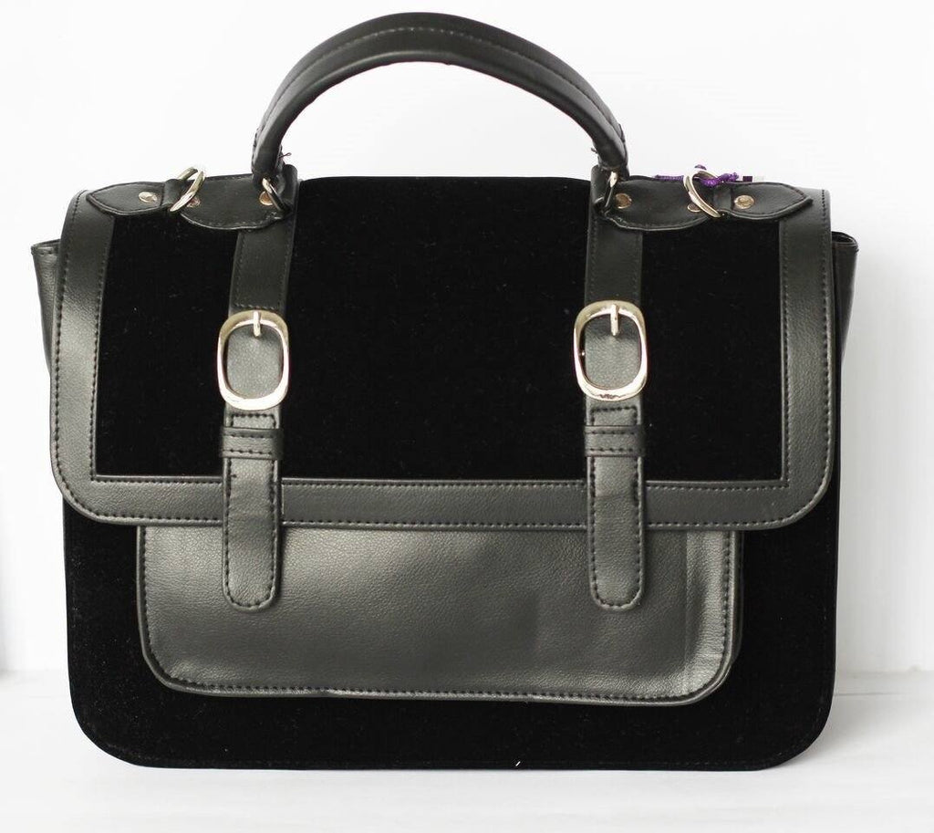 Black Satchel with Buckles