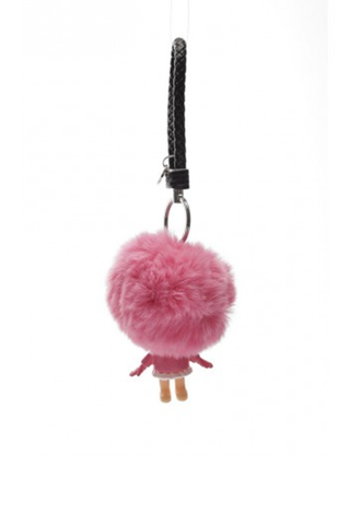 Keychain with pompom and body - Multicolor