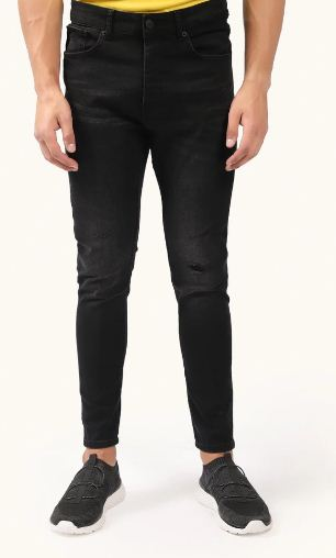 Skinny Fit Black Jeans | Outfitters | MBP101136-10244067