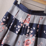 A- line semi formal floral printed skirt