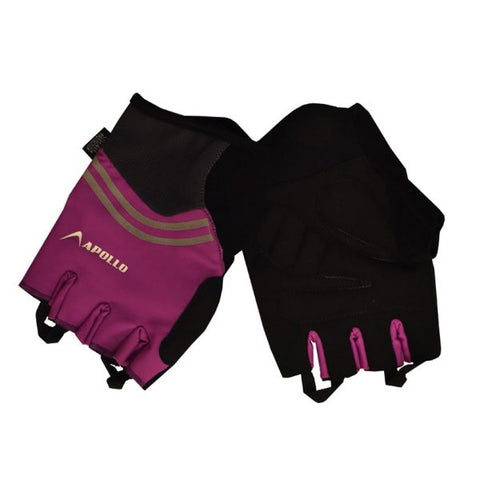 WOMEN'S TRAINING GLOVES – BLACK/PURPLE