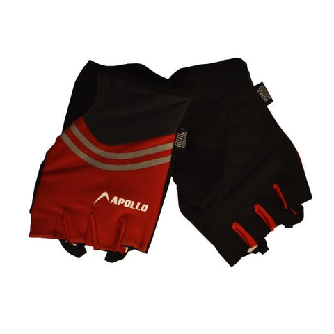 WOMEN'S TRAINING GLOVES – BLACK/RED | APOLLO
