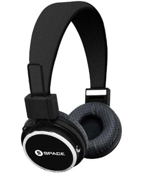 Space Tech SOLS SL-551 Wired On-Ear Headphones, Inline MIC-Block
