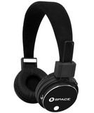 Space Tech Solo + SL-600 Wireless On-Ear Headphones, Bluetooth, MIC, SD Card & FM Support-bLACK
