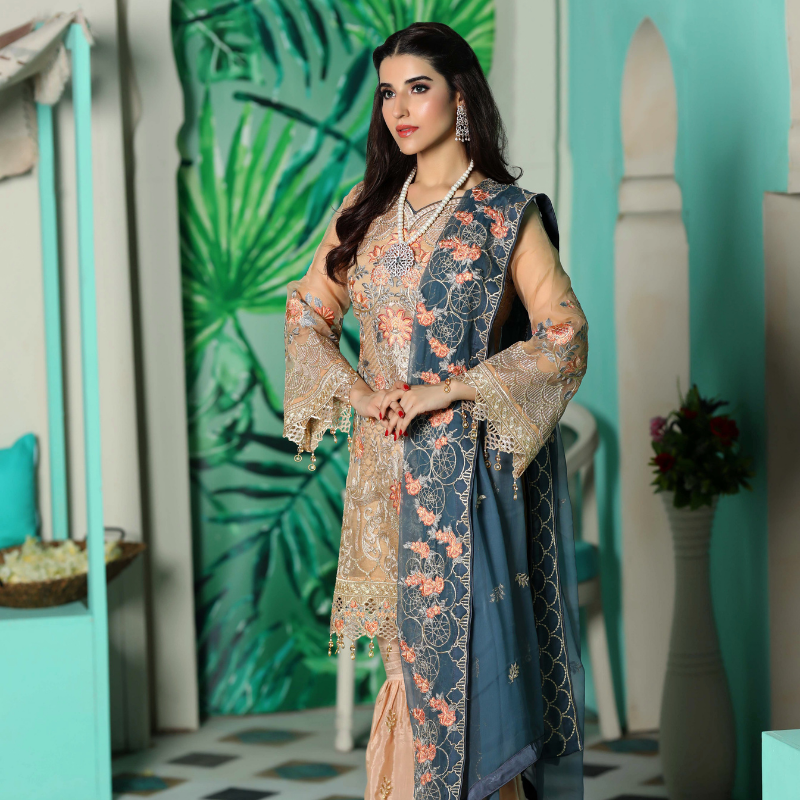 Areesha Vol-VIII Embroidered Chiffon Formal Wear Collection'20