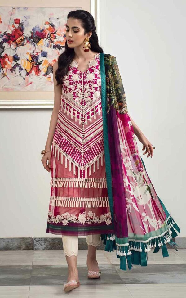 Asifa and Nabeel La'mour Affordable Luxury Lawn Collection'21 2-H Fascination