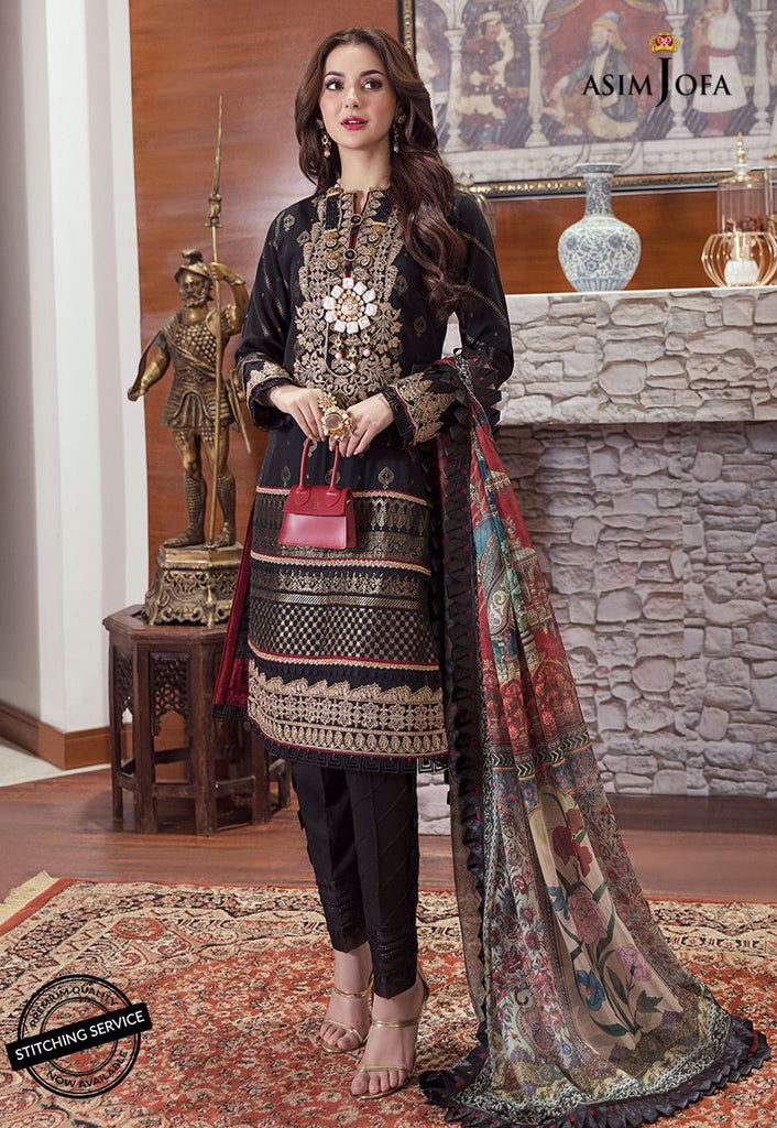 Asim Jofa Luxury Lawn Rabt Collection'21 AJRL-10