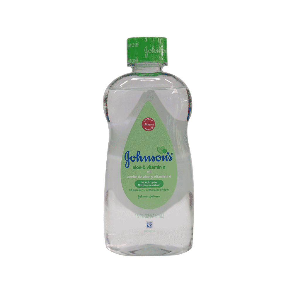 JOHNSONS BABY OIL ALOE VERA & VITAMIN E 414 ML
