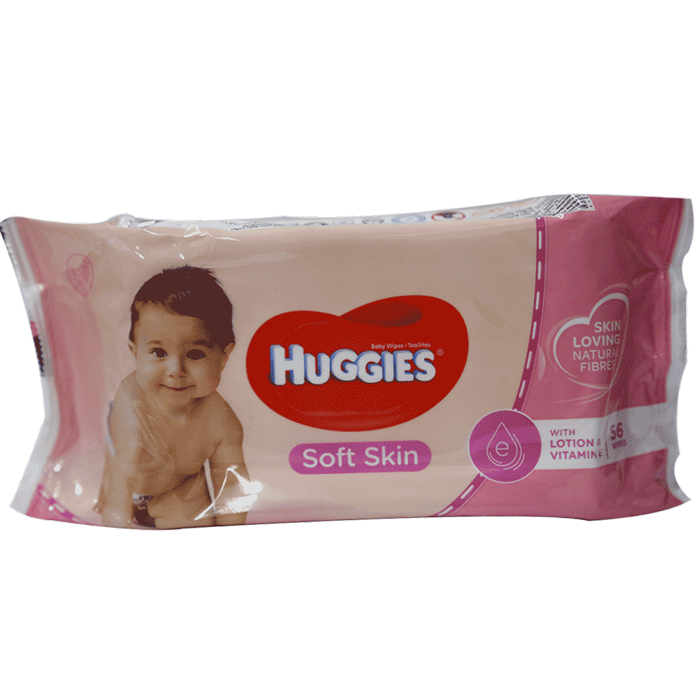 HUGGIES BABY WIPES SOFT SKIN 56 PCS