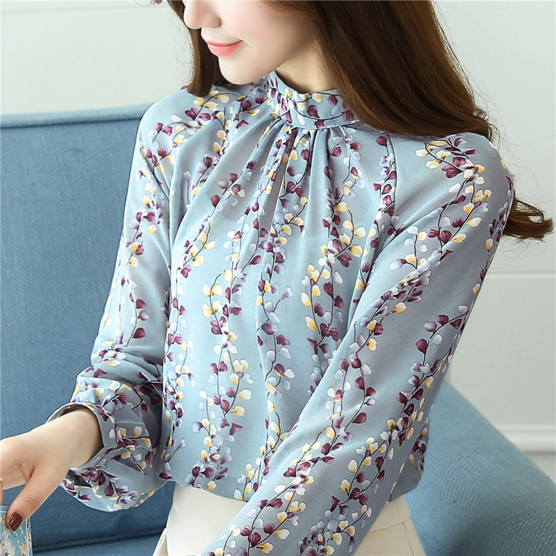 Floral Printed Full Slreeves  Losses Fitting Casual Top