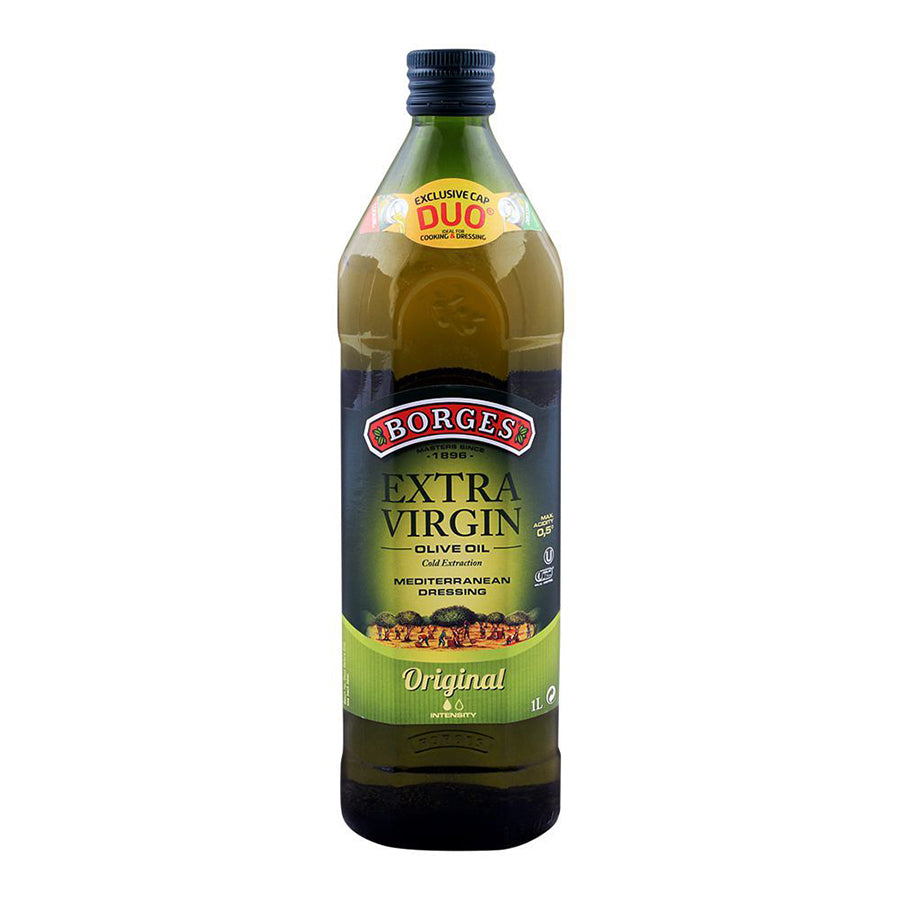 BORGES EXTRA VIRGIN OLIVE OIL ORIGINAL BOTTLE 1 LITRE