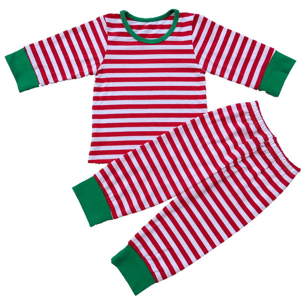 Baby Boys Girls Christmas Pajamas Kids Long Sleeve Xmas PJS Cotton Paj