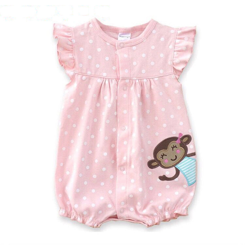 fa189ba96cf1f Baby Rompers Summer Baby Girls Clothing Cartoon Newborn Baby Clothes Roupas  Bebe Short Sleeve Baby Girl