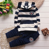 baby boys spring autumn clothing set infant hoodies shirt Newborn babies Striped sweatshirt Bebe casual outfit for boy