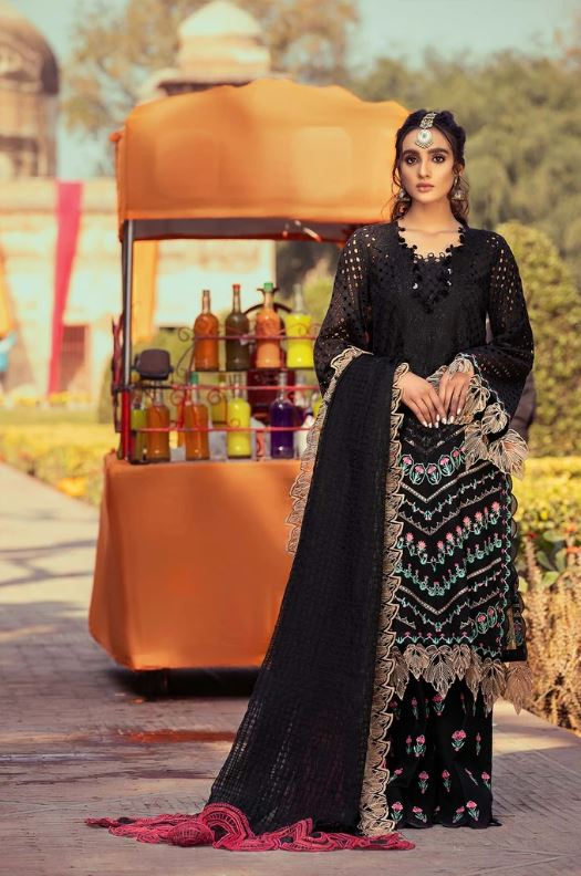 Charizma Signature Embroidered Lawn Collection'21 Dark Art ELS-03
