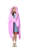 Hooded Blanket - Pink | Funky Fish