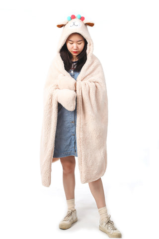 Hooded Blanket - Off White | Funky Fish