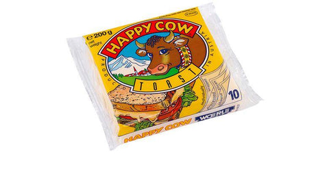 HAPPY COW CHEESE SLICE 200GM