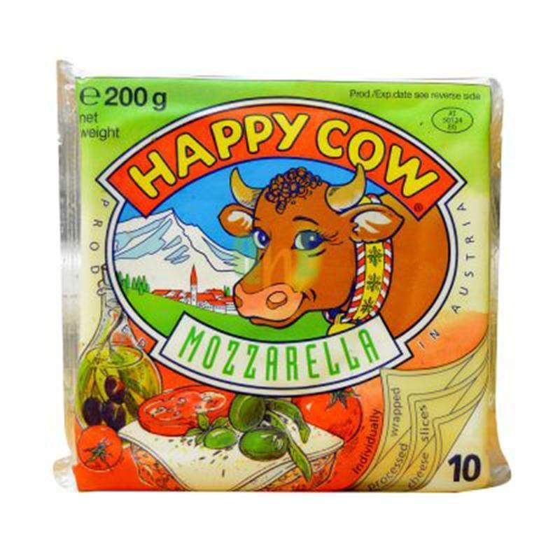 HAPPY COW CHEESE SLICE MOZARELA 200GM