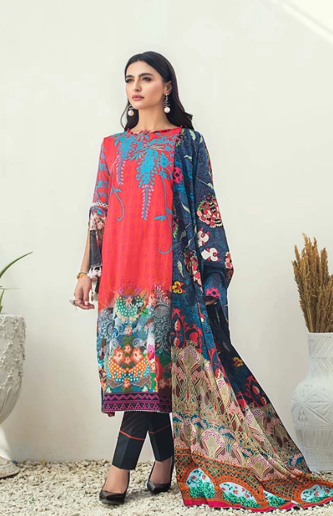 AL-Zohaib SUNSHINE BLOOM COTTON SILK'19 SSB19-P11