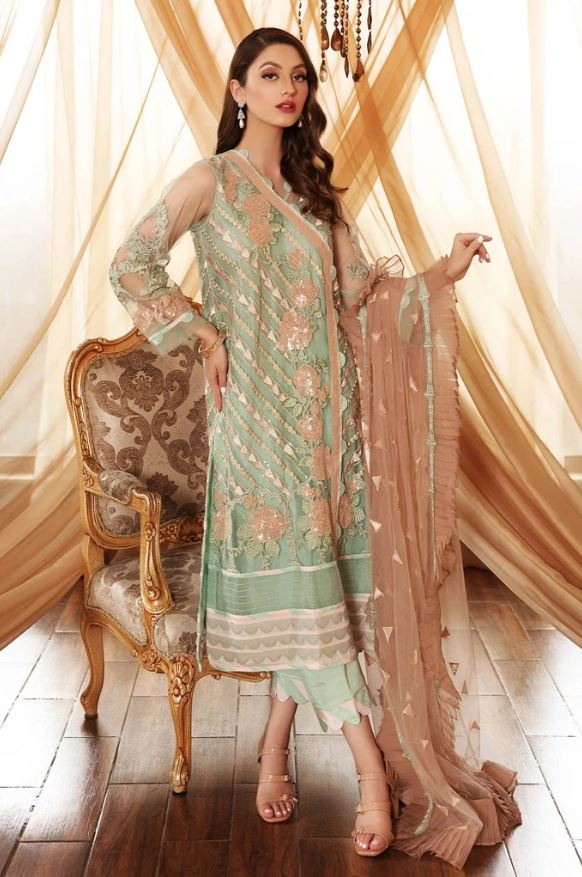 Charizma Chimmer Vol-04 Embroidered Chiffon Collection'21