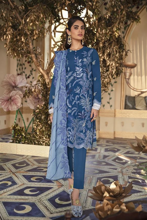 Cross Stitch Shehr-e-Uns Eid Lawn Collectyion'21
