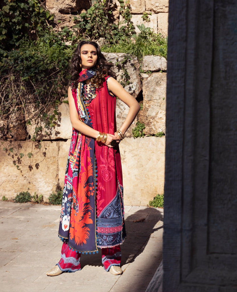 Republic Womens Wear Selene Luxury Lawn Collection'21 D9-B