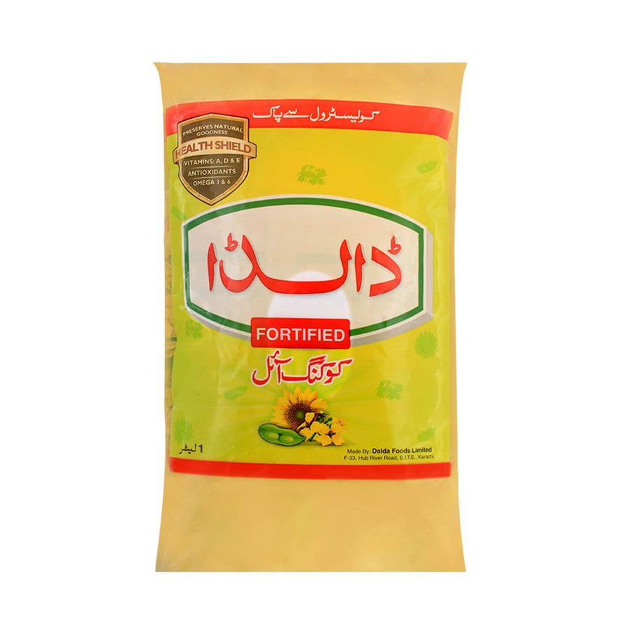 DALDA FORTIFIED COOKING OIL POUCH 1 LITRE