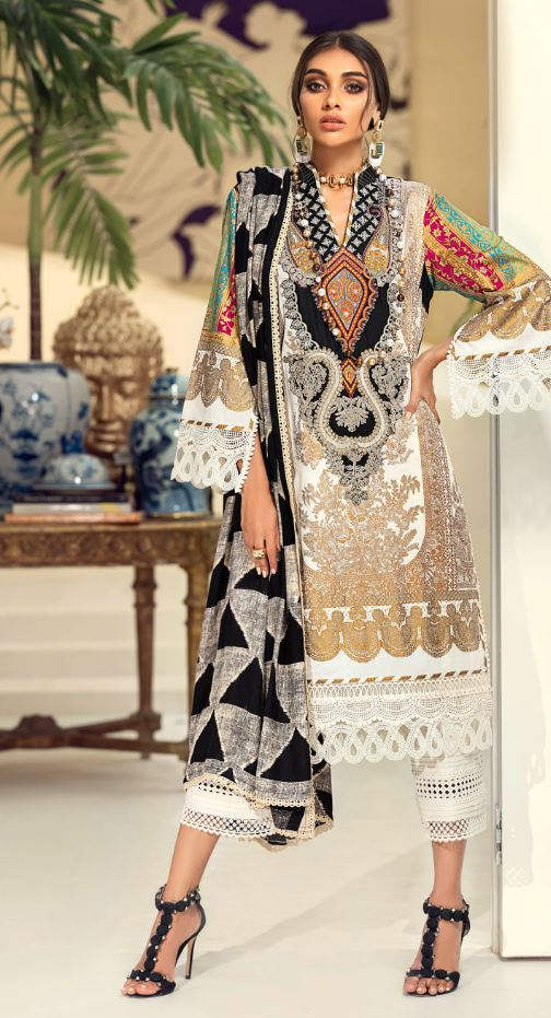 Sana Safinaz Muzlin Winter Collection'20 Codes: 13B (3 Piece)