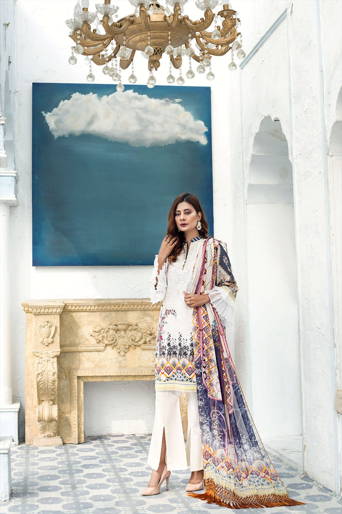 SANOOR DIGITAL PRINTED & EMBROIDERED LAWN COLLECTION'21