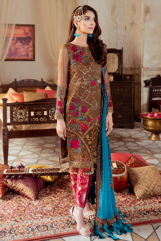 Imrozia Premium Embroidery Ibtada-e-Musarat Collection'19 Burgeon Rusepia 10