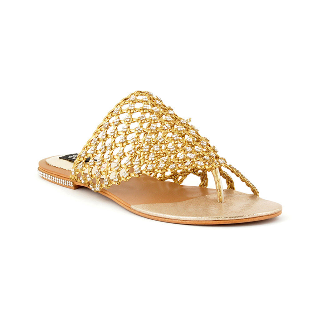 acf37497a8383 ECS Summer-2018 Golden Slide Sandal