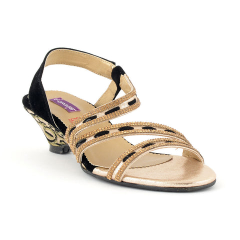 ECS Summer-2018 Black Golden Slide Sandal