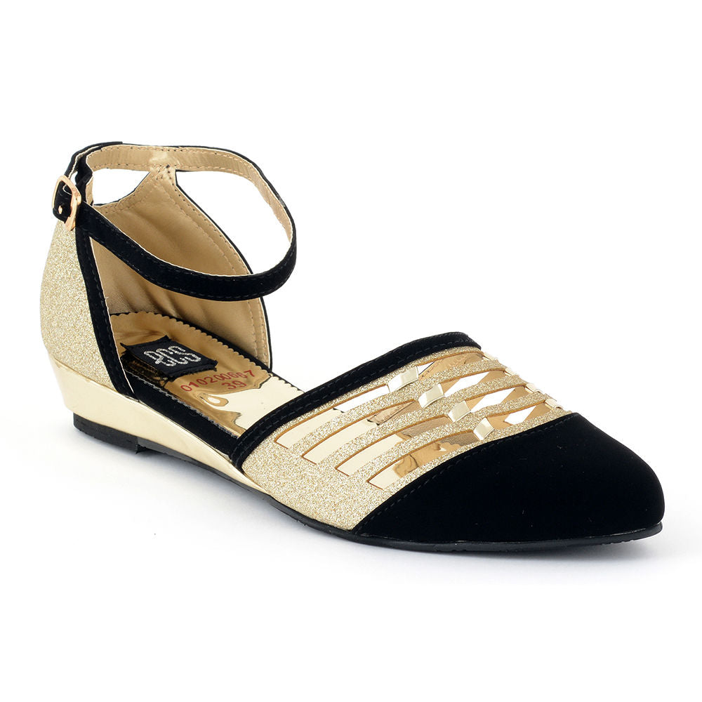 1b67cb1d37d ECS Winter -2018 Black Golden Court Shoes