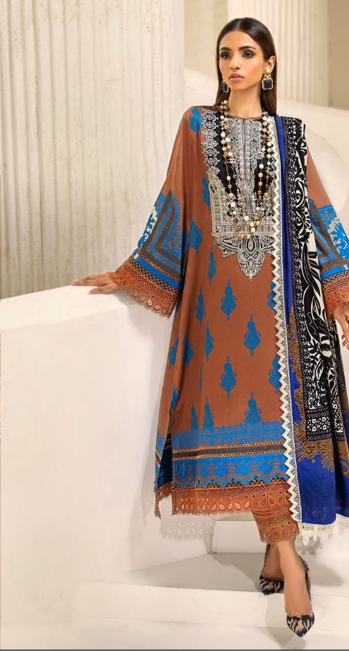 Sana Safinaz Muzlin Winter Collection'20 Codes: 10B (3 Piece)