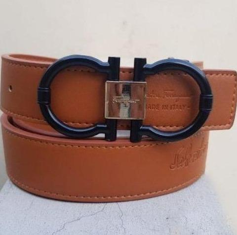 Ferragamo Black Buckle Belt