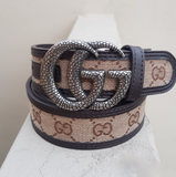 Gucci 1 white buckle with multicolor belt