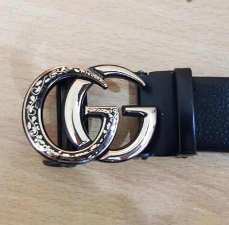 Gucci Gold Texture Buckle Belt (AT0373)