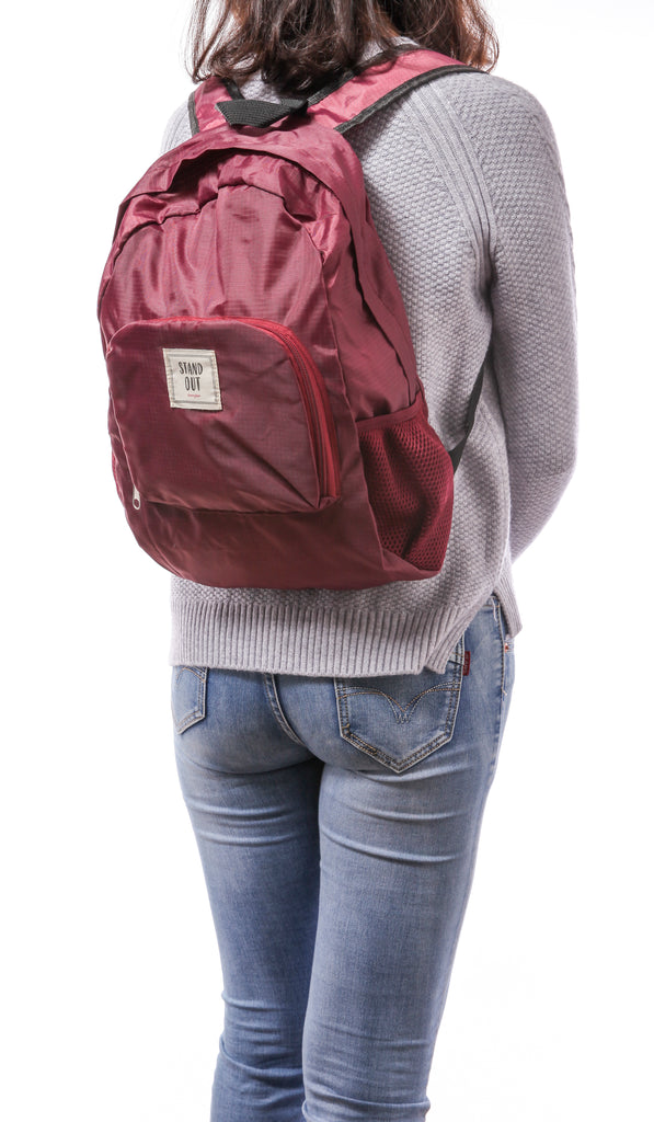 Stand Out Back Pack - Maroon Color