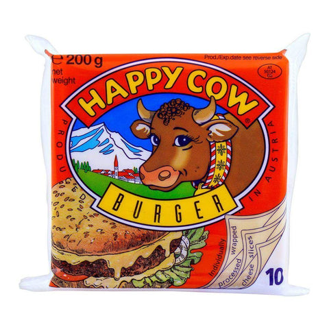 HAPPY COW CHEESE SLICES BURGER 200GM
