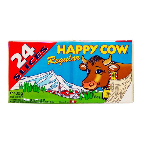HAPPY COW CHEESE SLICE 400GM