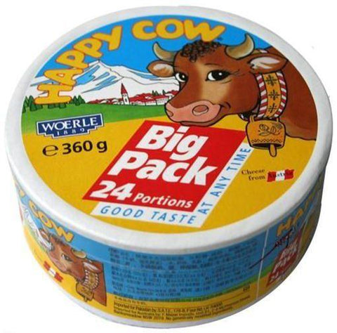 HAPPY COW PORTIONS CREAM CHEESE 360GM