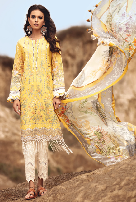 KARWAN BY JAZMIN SUMMER SPRING LUXURY LAWN COLLECTION'21 BANJARA