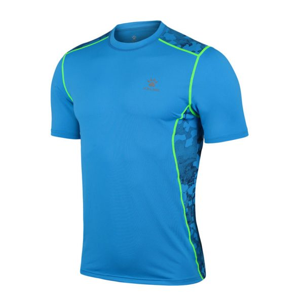 MEN'S RUNNING T-SHIRT – NEON BLUE ! Apollo Sports